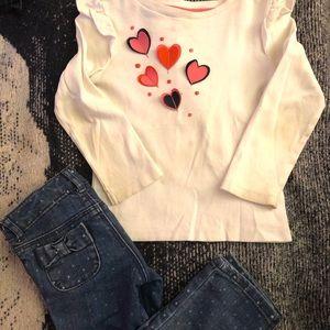 Gymboree Skinny Jeans + Long Sleeve Shirt